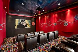 movie theater wall home theater contemporary with stadium seating