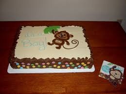 monkey baby shower cake photo monkey themed baby shower image