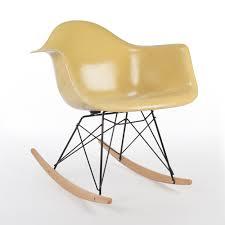 original herman miller ochre eames rar rocking arm chair 65396