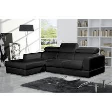 canapé angle noir canapé d angle 4 places néto madrid eco cuir noir avec