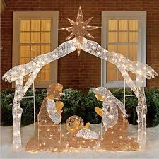 outdoor nativity sets outdoor lighted nativity decoration pertaining to