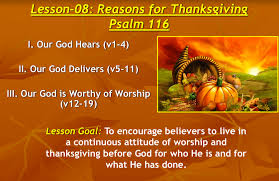 reasons for thanksgiving an approved workman