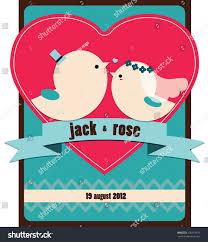 Card Factory Wedding Invitations Wedding Invitation Card Birds Blue Sky Stock Vector 120151678