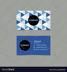 name style design simple name card template triangle style vector image