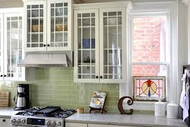 green tile backsplash kitchen green glass subway tile backsplash kitchen contemporary with