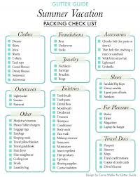 Kansas Travel Packing List images Glitter guide summer vacation packing checklist glitter guide jpg
