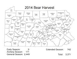 Map Of Lancaster Pa Black Bear Population Up Five Fold In Pennsylvania Since 1970s