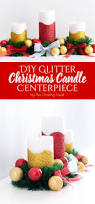 diy glitter christmas candle centerpiece the crafting nook by