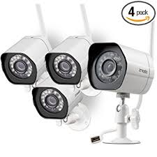 zmodo wireless security system 4 pack smart