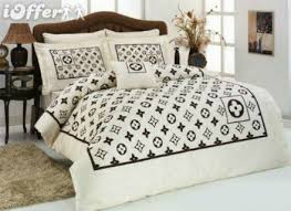 Louis Vuitton Bed Set 005 Louis Vuitton 6pcs Authentic Luxury Bed Set Satin Made In
