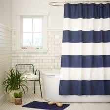 corner bath shower curtain cintinel com bathroom perfect navy blue and white bathroom shower curtain in