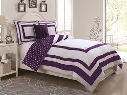 Polka Dot Bed Set 3 Hotel Juvenile Reversible Polka Dot Comforter Set Purple