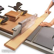 Woodworking Magazine Table Saw Reviews by Crosscuts With A Table Saw Sled Family Handyman