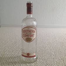 Southern Comfort Bottle Empty Decorative Southern Comfort Liqueur 1l Clear Glass Bottle
