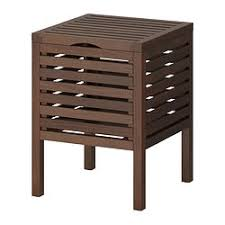 sgabelli legno ikea molger sgabello con contenitore marrone scuro ikea bagno