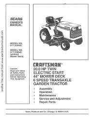 craftsman 917 254460 owner s manual
