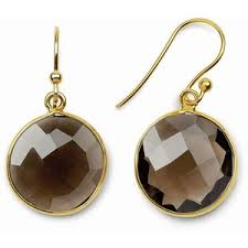 smoky quartz earrings 18k gold silver smoky quartz drop earrings polyvore