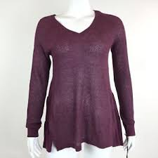 maroon sweaters womens small maroon metallic perforated knit v neck