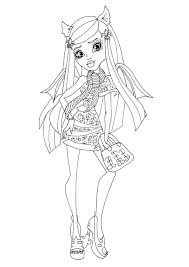 free printable monster high coloring pages rochelle goyle ghouls