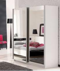 armoire miroir chambre armoire laqué blanc kass lestendances fr