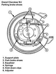 jeep grand rear brakes solved pictures of rear parking brake shoe assembly fixya