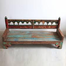 painted wooden bench kasakosa home decor