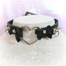 girl collar necklace images Bdsm daddys girl choker necklace black faux leather heart o ring jpg