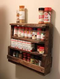 Rustic Spice Rack Kitchen Shelf Cabinet Made From Best Home A Home Made Spice Rack Made Out Of Pallets Homes Pinterest