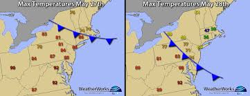 New England On Map Backdoor Cold Front 40 U0027s In Late May Weatherworks