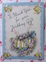 wedding gift greetings vintage 1940s wedding gift thank you greeting card bells