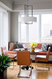Modern Banquette Dining Sets Orange Dining Chairs Dining Room Modern With Tan Leather Dining