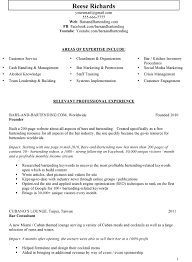 Areas Of Expertise Resume Areas by Sample Bar Manager Resume Ideas On Writing Your Own