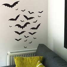 halloween bats wall sticker set by nutmeg notonthehighstreet com
