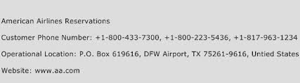 American Airlines Help Desk American Airlines Reservations Customer Service Phone Number
