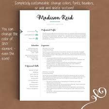 Creative Resume Headers Creative Resume Template The Madison U2013 Landed Design Solutions