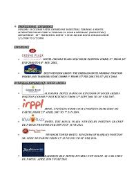 Demi Chef De Partie Resume Sample Sample Resume For Industrial Training In Malaysia Resume Ixiplay