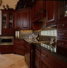 Cherry Wood Kitchen Cabinets With Black Granite Cherry Cabinets With Black Granite Countertops