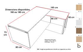 profondeur bureau bureau d angle pieds bois practika p4 quadrifoglio bureaux opérat