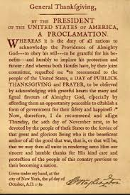 the thanksgiving proclamation george washington note the history