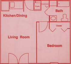 one room house floor plans typical floor plan one bedroom