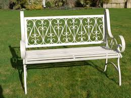 Steel Garden Bench Victorian Style Metal Garden Bench Oddz U0026 Sodz Unique