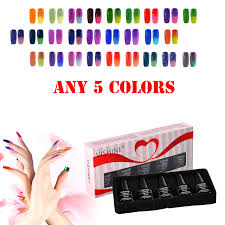chagne gift set vishine gift set any 5 colors temperature color change nail