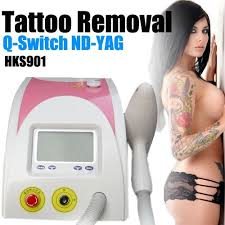q switch nd yag for tattoo removal lip line eye brows clean