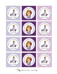 Free Printable Cupcake Tops Favor Box Sofia The First