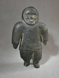 soapstone carving early eskimo inuit soapstone carving standing in parka item