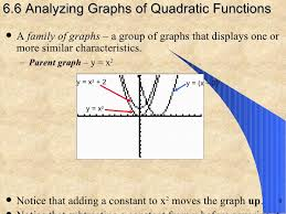 6 6 analyzing graphs of quadratic functions