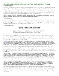 sample military resume for civilian job simple 37 peppapp