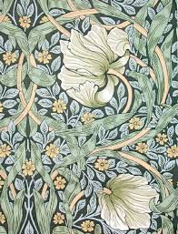 William Morris Wallpaper by William Morris Pimpernel Floral Design Statuette William Morris