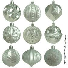 silver ornaments tree decorations the