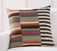 Pottery Barn Kilim Pillow Cover Carson Crewel Stripe Pillow Cover Pottery Barn